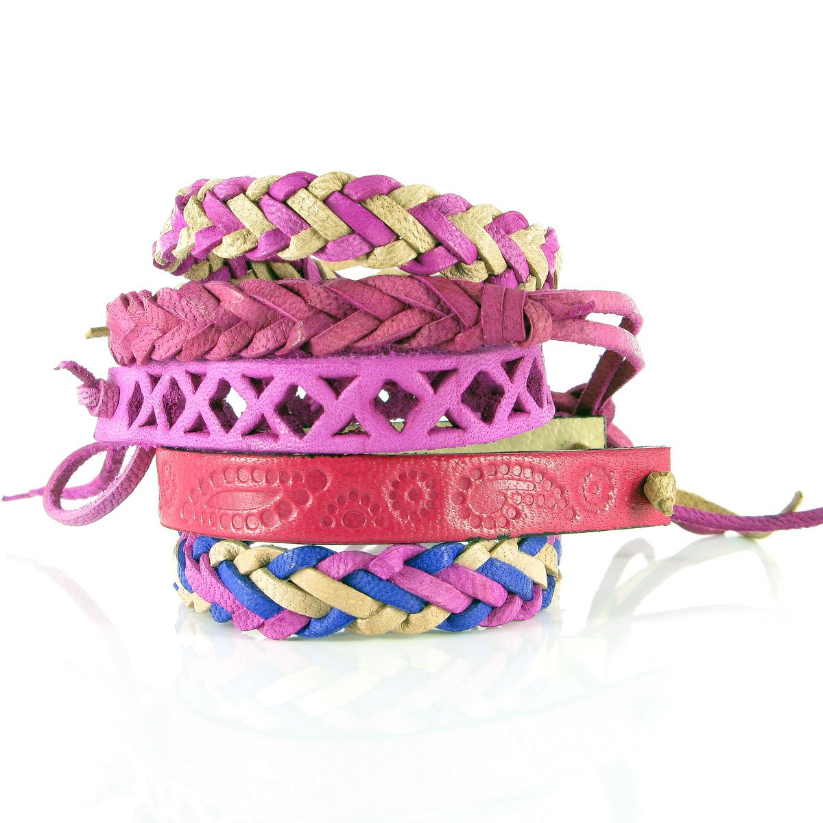 Ettika Braided Satin Cord Bracelet w/Single Charm - WHATS