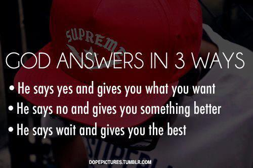 The ways of answers given by god ~ heart touching thought