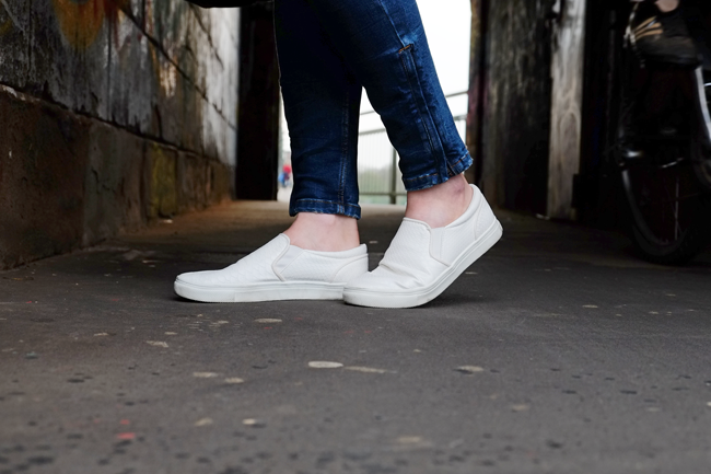 white Slipons, Sommertrend Slipons, Slip on von H&M