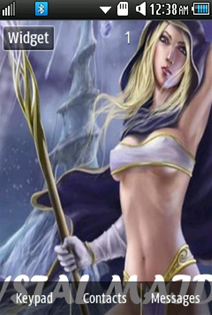 DOTA Crystal Maiden (Rylai) Samsung Corby 2 Theme Wallpaper