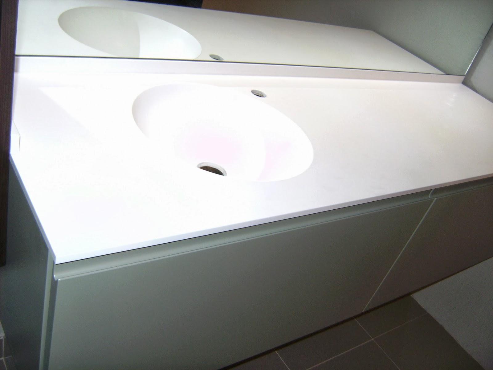 Encimeras Baño Krion:Encimera para muebles de baño con lavabo redondo