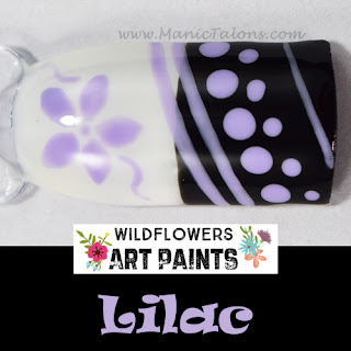 Wildflowers Nail Art Paint Lilac