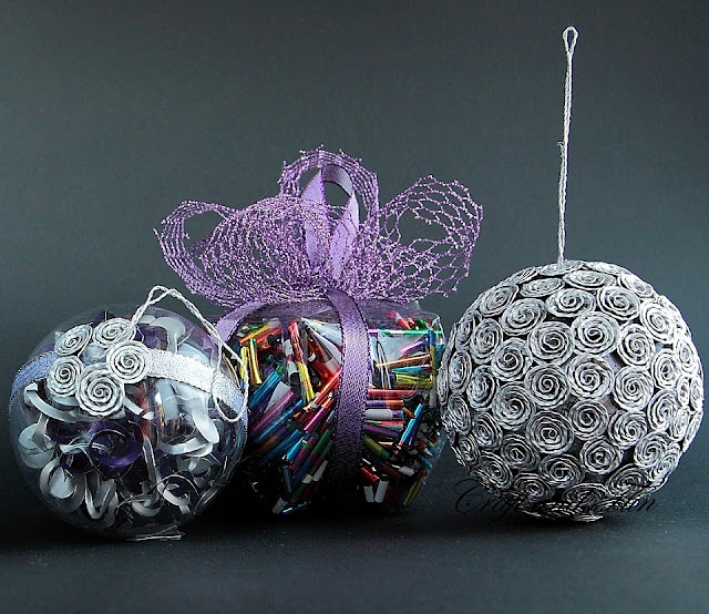 Palline di natale idee di riciclo creativo for Palline natale fai da te