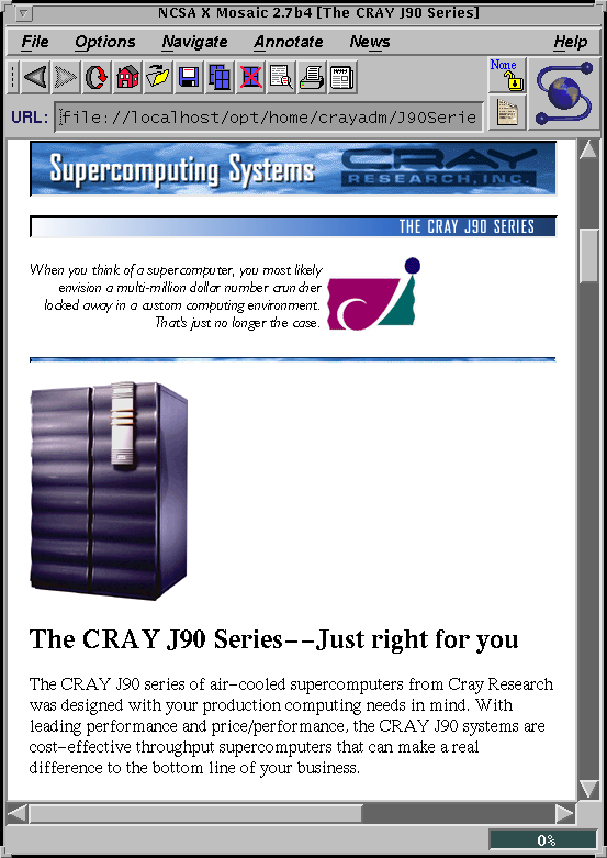 Cray J90 webpage