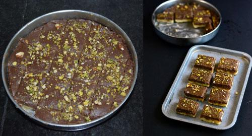2 layered chocolate burfi