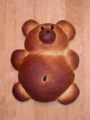 Teddy Bear Bread by Nina's Show & Tell