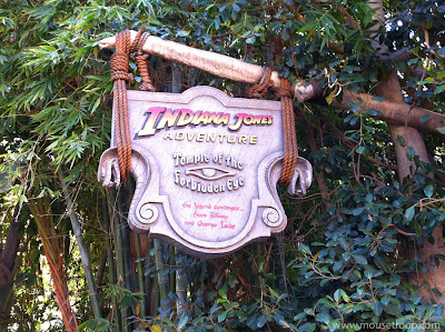 Indiana Jones Adventure ride Disneyland temple entry sign