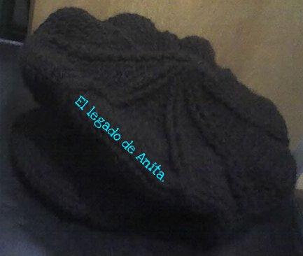 Boina A Crochet Con Visera
