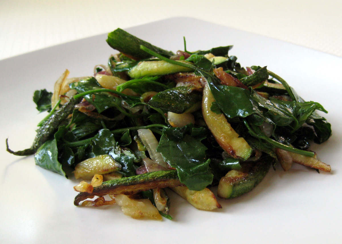 Sauteed Zucchini and Spinach