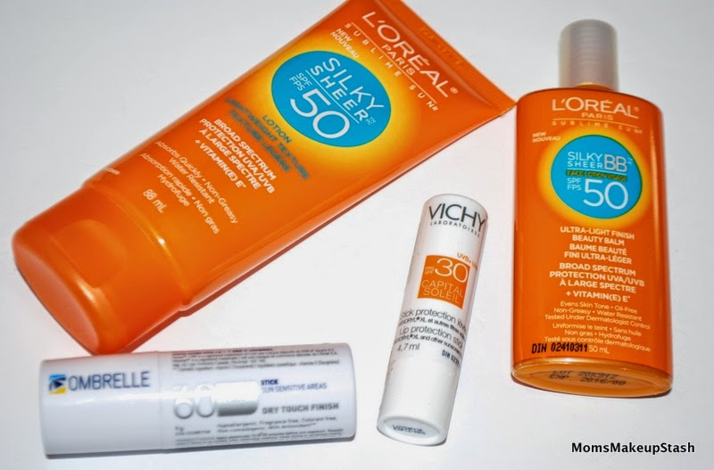 Sun Protection Tips, Sun Tips, Best Sunscreens, Sunscreen for the family, Sun Protection, L'Oreal Sublime Sun Silky Sheer, L'Oreal Silky Sheer BB, Vichy Lip Protection, Ombrelle Stick