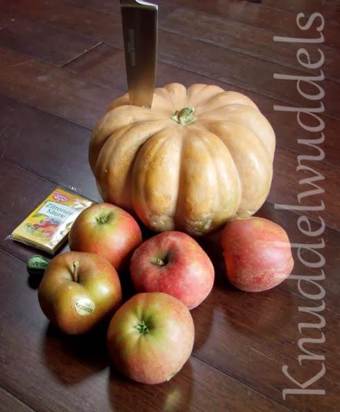 Muskatkürbismarmelade mit Apfel und Zimt