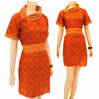DB3261 Model Baju Dress Batik Modern Terbaru 2013