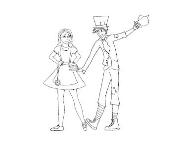 #7 Alice in Wonderland Coloring Page