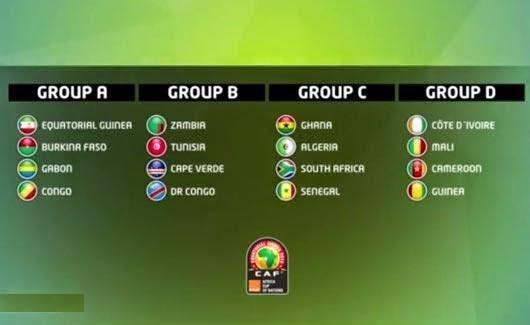 جدول نقل مباريات بطولة امم الافريقية 2015  African Nations Championship