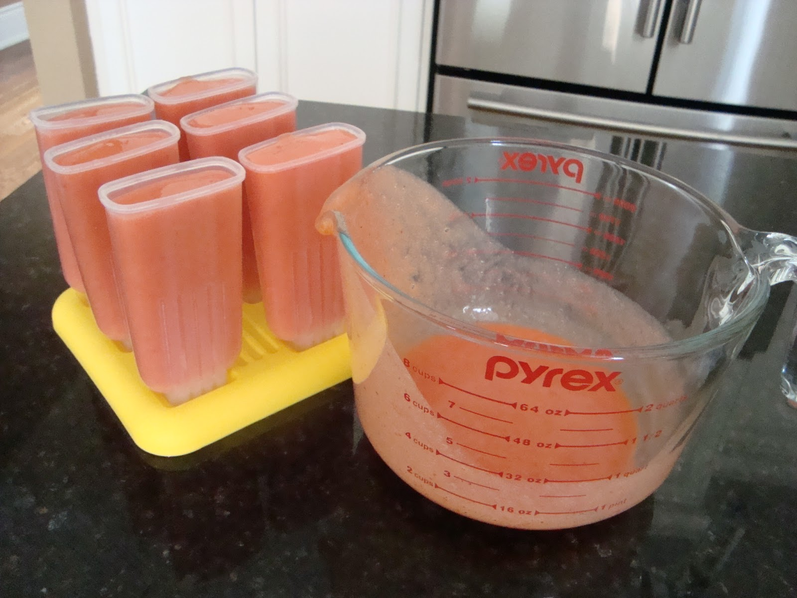 Someone's in the Kitchen: Nectarine Strawberry Popsicles