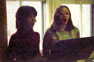 Singing as students -- ain't we cute?