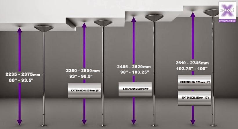 Chronique r cr ative monter sa barre de pole dance xpert - Hauteur minimum plafond ...