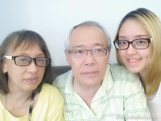 Mum, Dad & I wearing glasses from Vision Spa