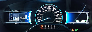 Speedometer and fuel economy gauge