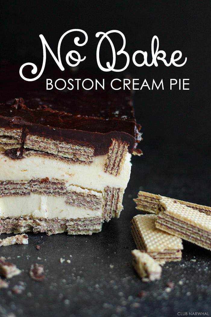 No Bake Boston Cream Pie | An easy version of this classic treat!