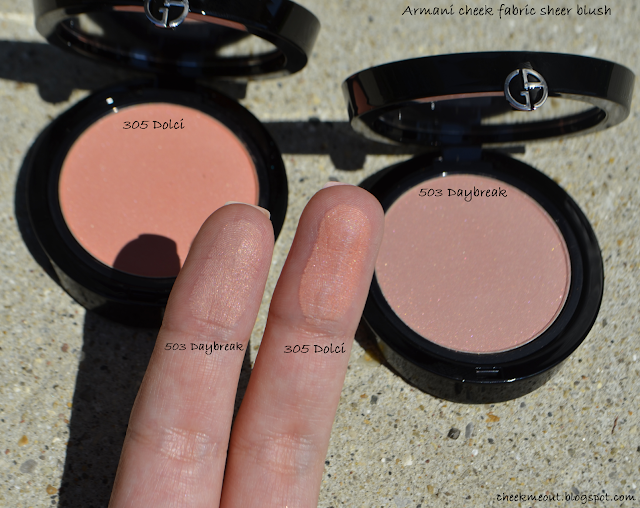 armani cheek fabric blush swatch