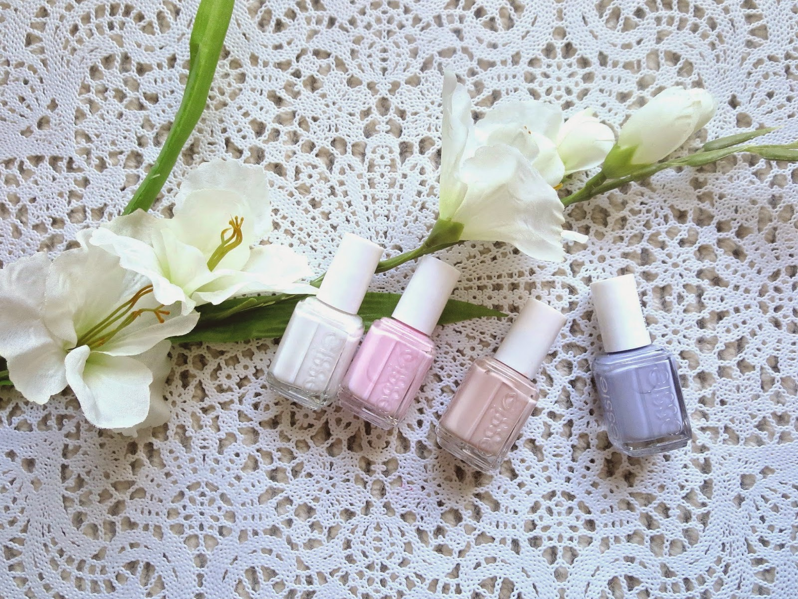 a picture of Essie Blanc, Fiji, Topless & Barefoot, Lilacism, spring colors