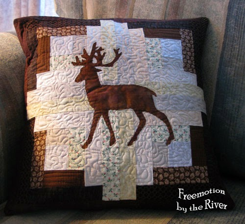 Deer pillow at Freemotion by the River