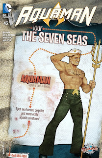 Alternate Bombshells cover to Aquaman #43 from DC Comics