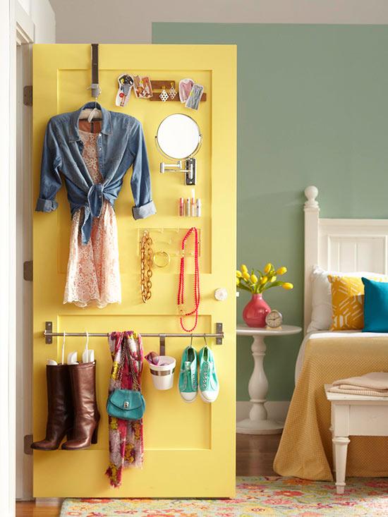 porta do closet, guardar objetos, guardar, ganhar espaço, otimizar espaço, porta interna do armário, room door