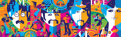 The Beatles Variant Psychedelia Edition Screen Print 4 Piece Set (John, Paul, George & Ringo) by Tom Whalen