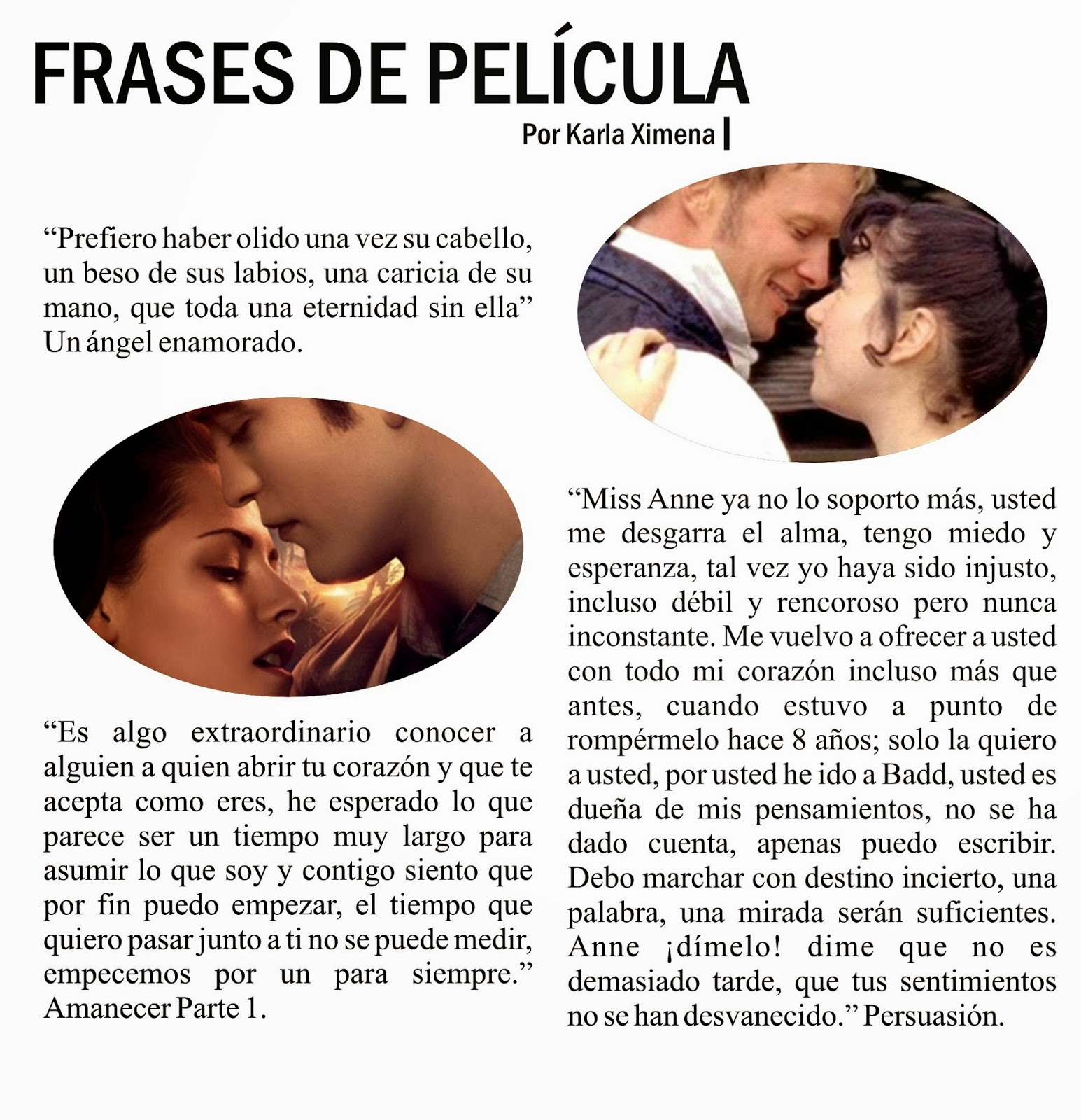 EmBLOGrium revista 2015: Frases románticas de películas - Frases de