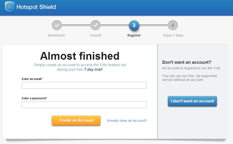 Hotspot Shield Elite Free Trial
