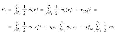 energía cinética total en un sistema de referencia
