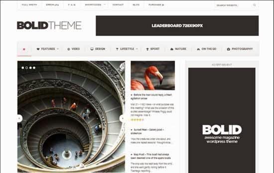 Bolid - Responsive News, Magazine and Blog Theme