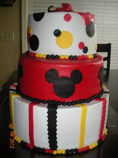 following his lead mickey mouse baby shower cake