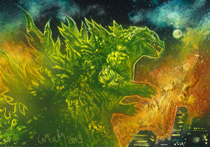 Godzilla Sketch Card by Jeff Lafferty