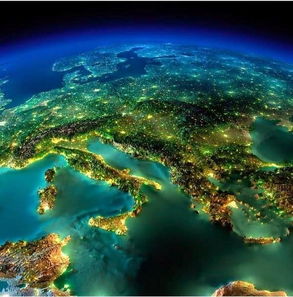Европа с космоса