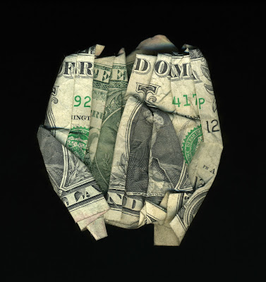 money art, folded money, freedom land
