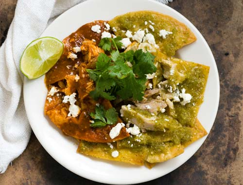 Chilaquiles with ancho tomatillo salsa | Homesick Texan
