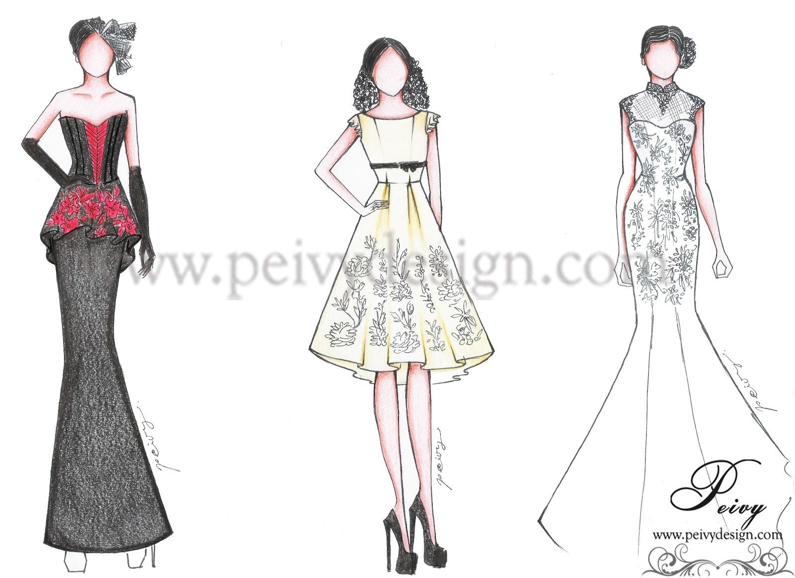 pre wedding dress part 1 by peivy design   peivy design