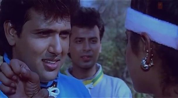 Screen Shot Of Hindi Movie Shola Aur Shabnam 1992 300MB Short Size Download And Watch Online Free at worldfree4u.com
