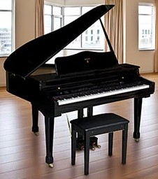 Az piano reviews review report digital grand pianos for What size is a baby grand piano