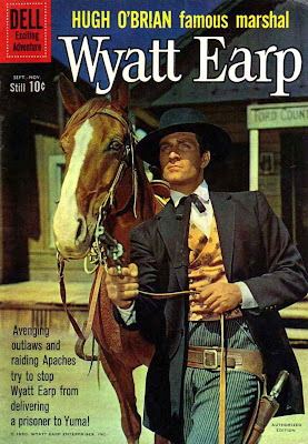 Wyatt Earp v2 #12 - dell western 1960s silver age comic book cover art