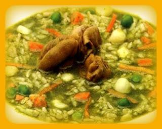 Sopa verde de choros