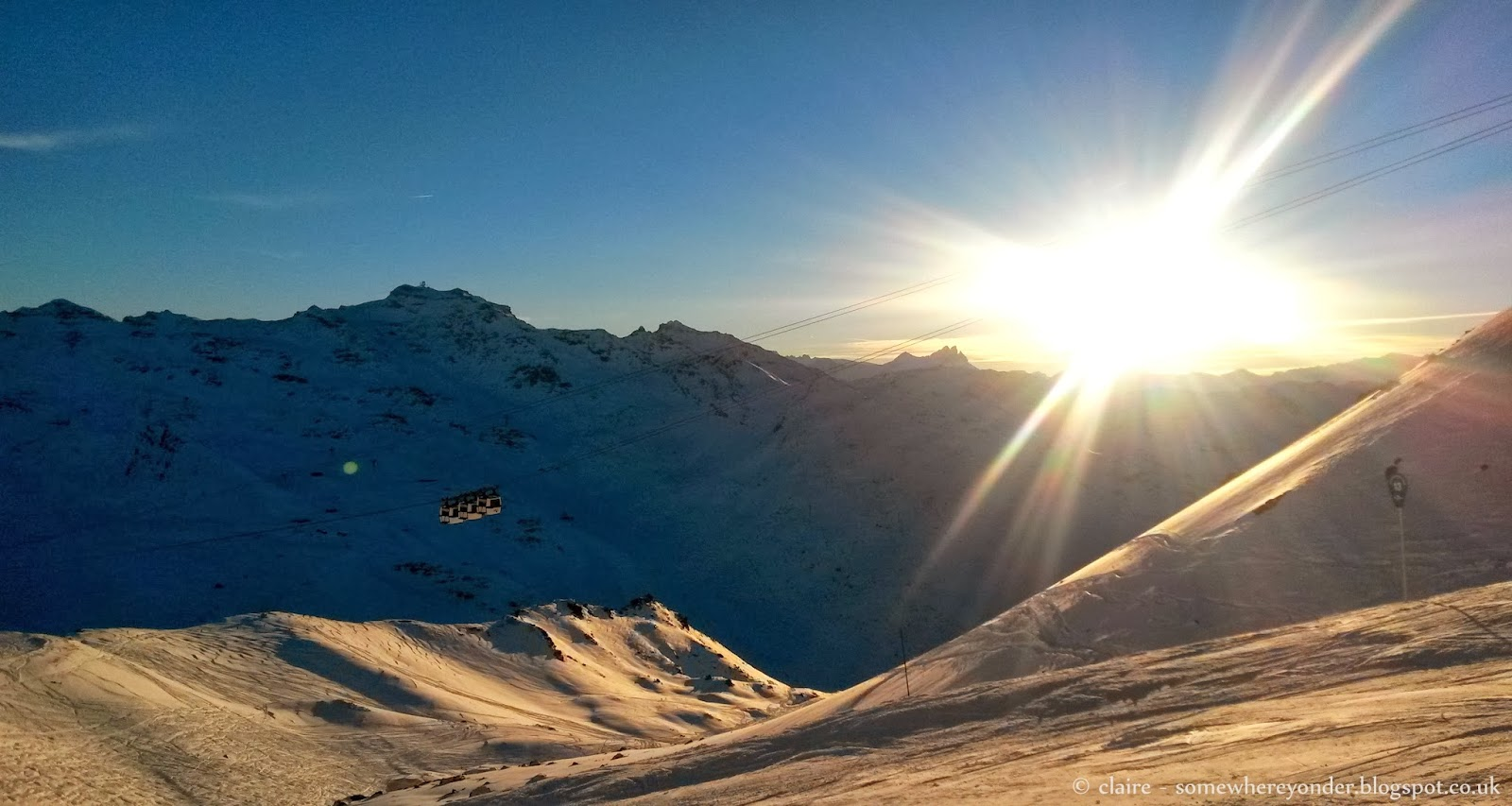 Sun set on the mountain - Val Thorens, France