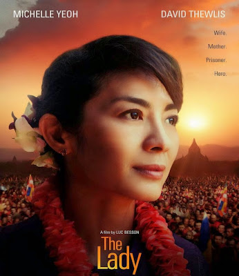 Poster Of The Lady In Dual Audio Hindi English 300MB Compressed Small Size Pc Movie Free Download Only At worldfree4u.com
