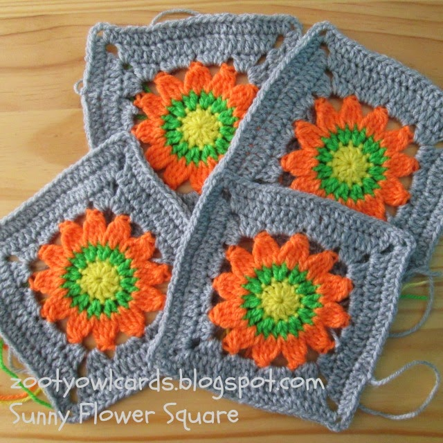 Zooty Owl\'s Crafty Blog: Happy Days CAL (2): Sunny Flower Square