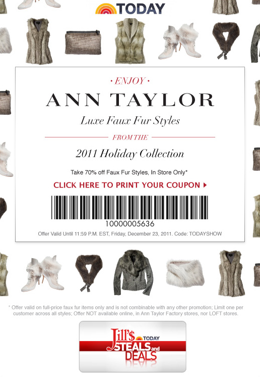 photograph regarding Anne Taylor Printable Coupons referred to as Ann taylor loft manufacturing unit retail store coupon - On the net Discount coupons