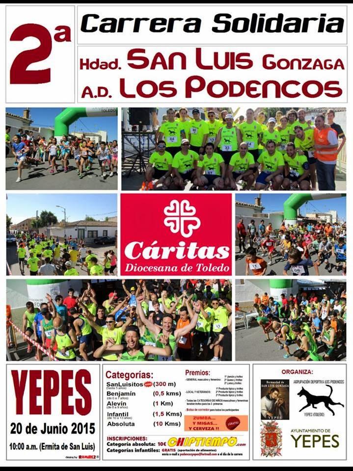 """2ª Carrera Solidaria """"Los Podencos"""" de Yepes"""