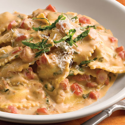 Tuscan Pasta With Tomato-Basil Cream - Cook'n is Fun - Food Recipes ...
